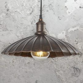 Rustic Bronze Umbrella Pendant Light