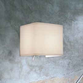 Up Down Cream Fabric Wall Light