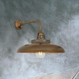 Vintage Antique Brass Wall Light
