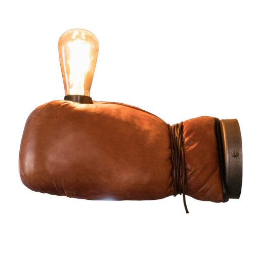 Vintage Boxing Glove Wall Light