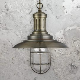 Vintage Cage Fisherman Pendant Light
