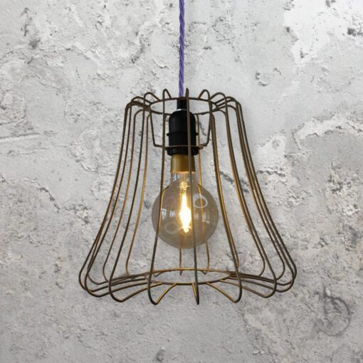 Vintage Cage Light Fitting