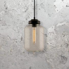 Vintage Clear Glass Pendant Light