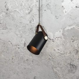 Black Vintage Directional Pendant Light