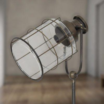 Vintage Glass Cage Tripod