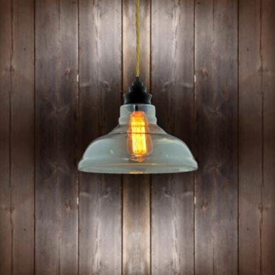 Vintage Glass Pendant Light