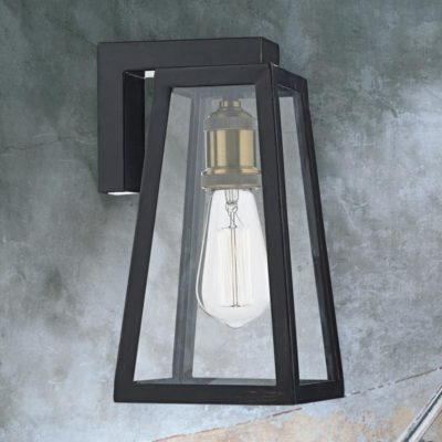 Vintage Outdoor Clear Glass Wall Light