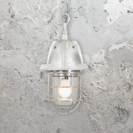 White Bulkhead Pendant Light