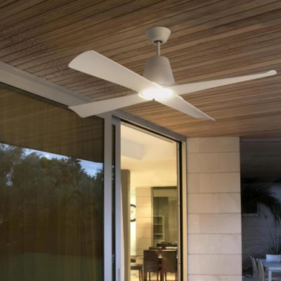 White Coastal Ceiling Fan Without Light