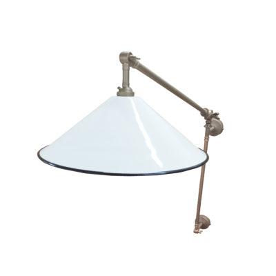 White Coolie Enamel Wall Light