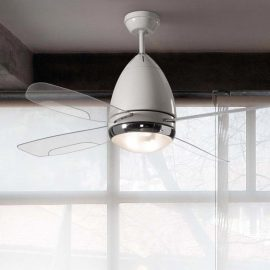 White Designer Ceiling Fan With Lights