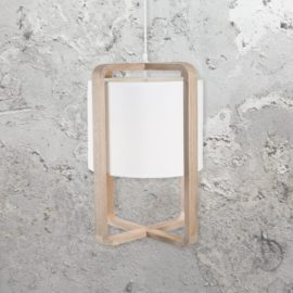 White Linen Pendant Light