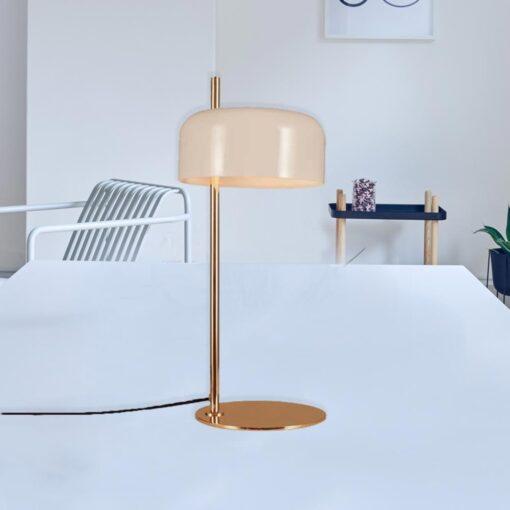 White Modern Gold Table Lamp