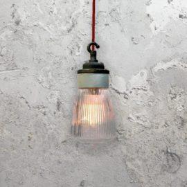 Porcelain Prismatic Glass Pendant Light