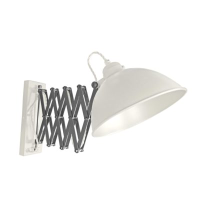 White Scissor Arm Wall Light