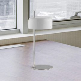 White Chrome Table Lamp