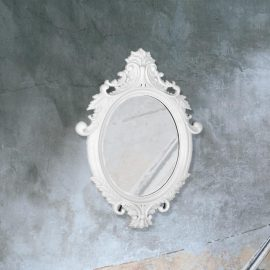 traditional decorative white Venetian mirror