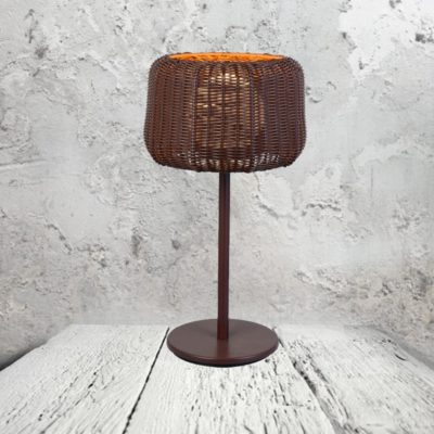 Wicker Basket Lamp