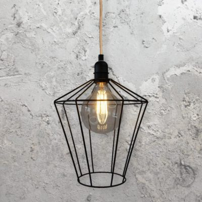 Wire Cage Hanging Light