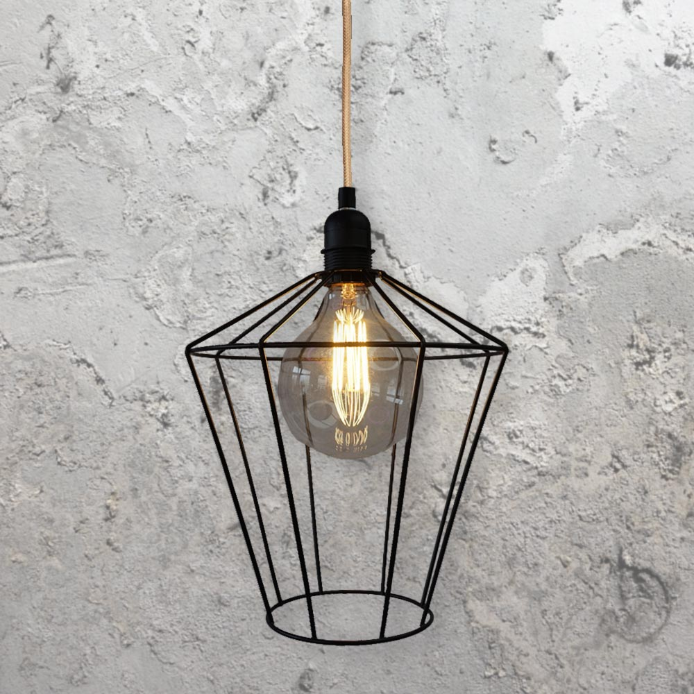 Wire Cage Hanging Light CLB-00524 | Bespoke | E2 Contract Lighting | UK