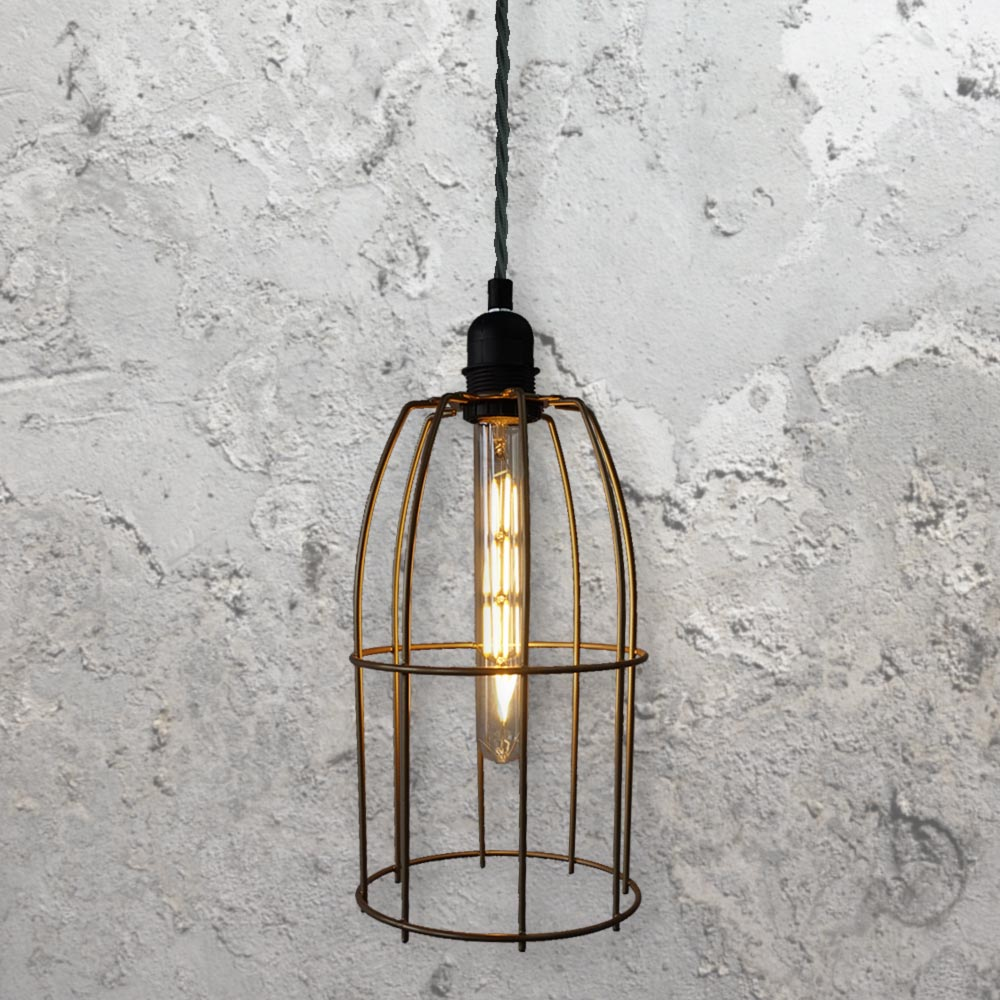 Wire Cage Pendant Light CLB-00519 | E2 Contract Lighting | UK