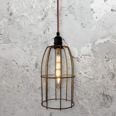 wire cage light