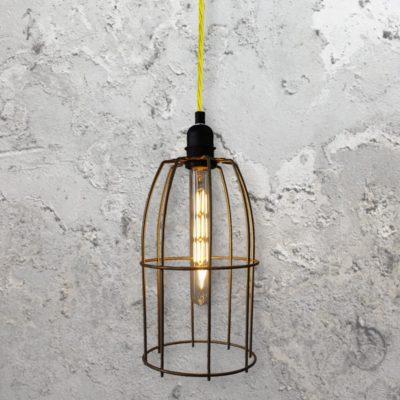 Wire Cage Pendant Light