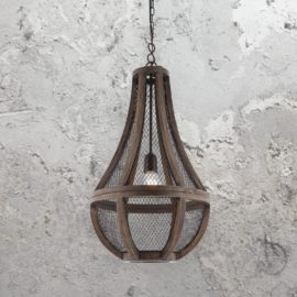 Wood Mesh Pendant Light